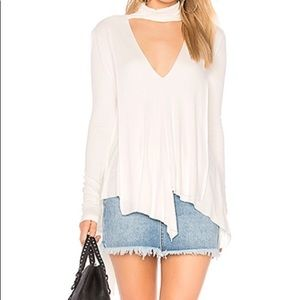 Free People uptown choker neck draped front tunic